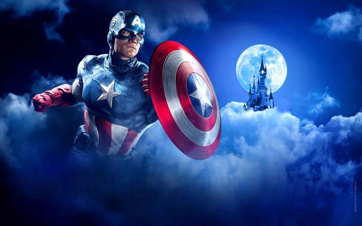 Papel De Parede Do Capitao America: Download Imagens 4k, Capitão América, Escudo, Super-heróis