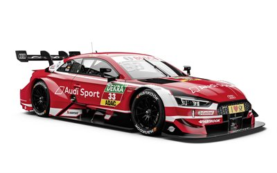 Audi RS5 DTM, 2018, Rene Rast, racing car, Deutsche Tourenwagen Masters, 33 number, car racing, tuning RS5, Audi Sport Team Rosberg, Audi