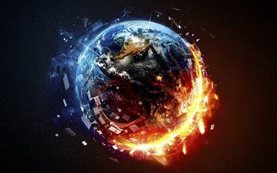 Herunterladen Hintergrundbild Planeten Zerst 246 Rung 4k