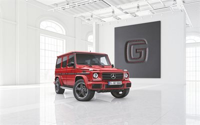 Mercedes-Benz G-Class, 2020, red SUV, tuning, new red G63, german cars, Mercedes
