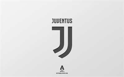 Juventus FC, white background, Italian football team, Juventus FC emblem, Serie A, Italy, football, Juventus FC logo