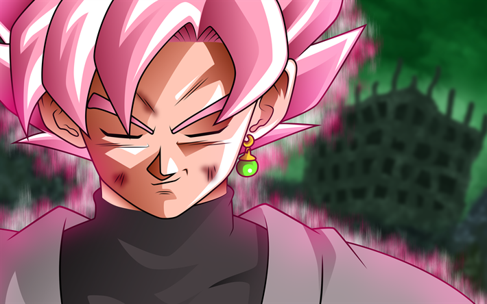 Download Wallpapers 4k Super Saiyan Rose Close Up Dragon Ball Super Black Goku Manga Dbs Dragon Ball Goku For Desktop Free Pictures For Desktop Free
