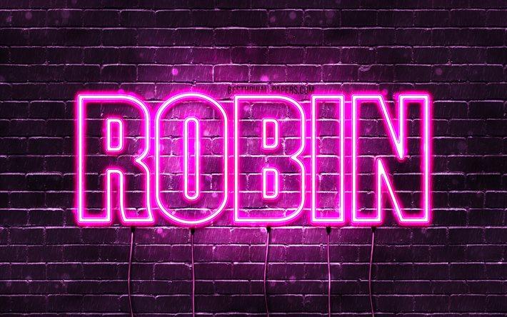 Скачать обои Robin, 4k, wallpapers with names, female ...