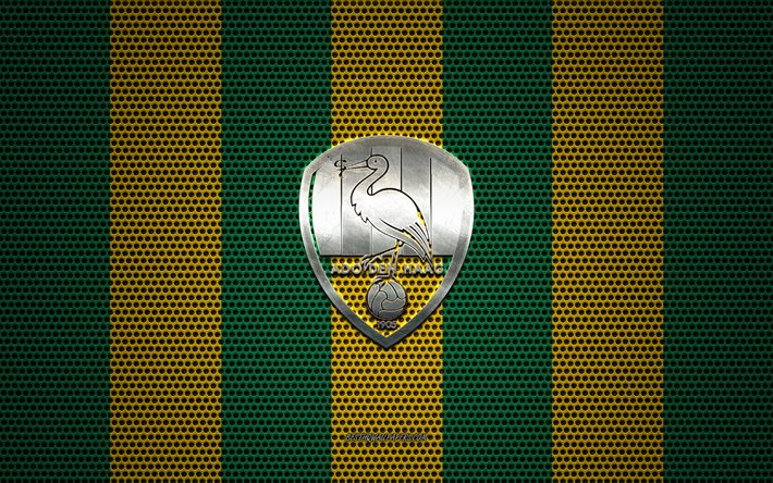 Download Wallpapers Ado Den Haag Logo Dutch Football Club Metal Emblem Green Yellow Metal Mesh Background Ado Den Haag Eredivisie The Hague Netherlands Football For Desktop Free Pictures For Desktop Free