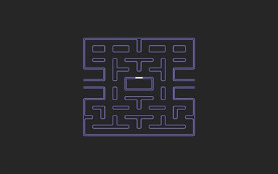 maze, labyrinth, minimal, gray background