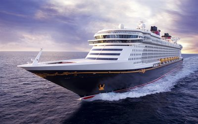 4k, Disney Dream, sea, cruise ship, Disney Cruise Line