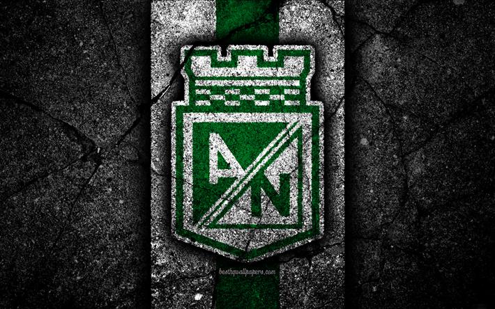 Download Wallpapers Atletico Nacional FC 4k Logo