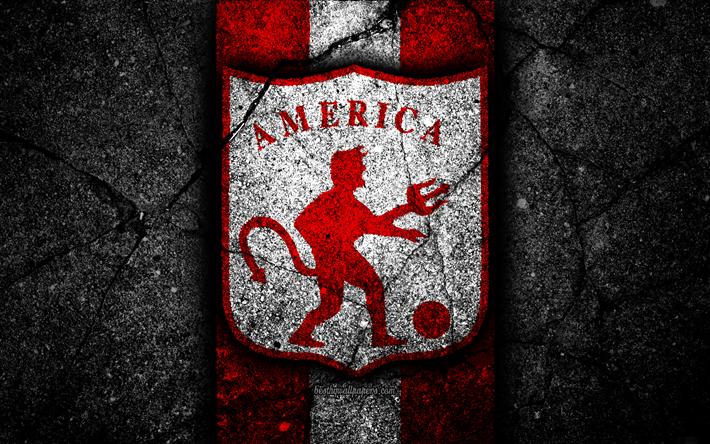 Download Wallpapers America De Cali Fc 4k Logo Colombian