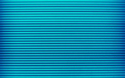 blue lines, 4k, horizontal lines, strips, blue background