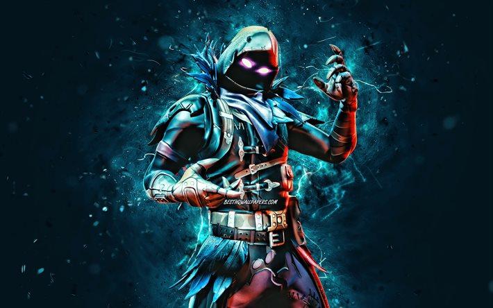 Download Wallpapers Raven 4k Blue Neon Lights 2020 Games Fortnite Battle Royale Fortnite Characters Raven Skin Fortnite Raven Fortnite For Desktop Free Pictures For Desktop Free