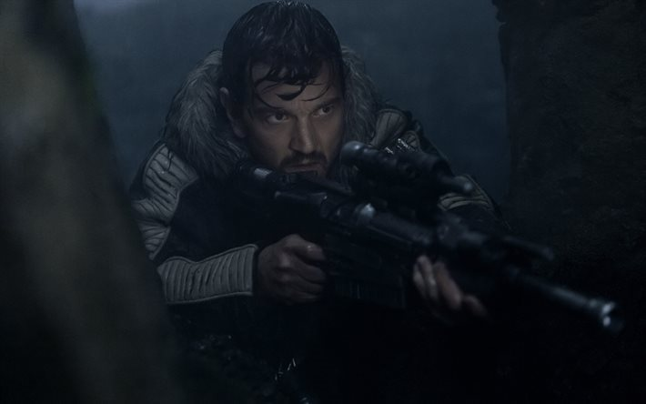 Rogue One, A Star Wars Story, 2016, Diego Luna, Captain Cassian Andor, sniper