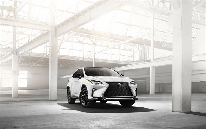 Lexus RX350, F Sport, 2016, white Lexus, new crossovers, sport crossover, white RX