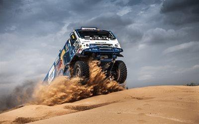 Download wallpapers Kamaz 4326, desert, Dakar Rally 2017 ...