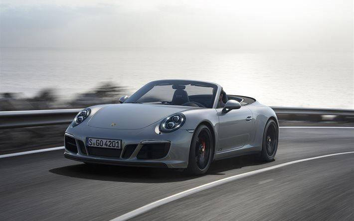 Porsche 911 GTS, cabriolets, speed