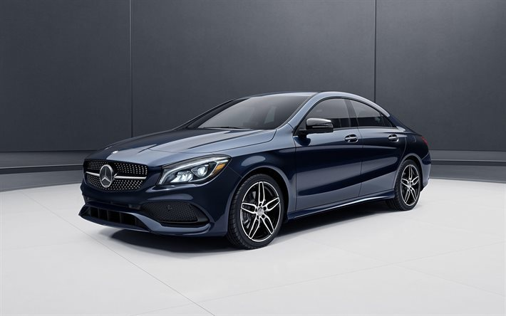 Mercedes-Benz CLA 45, AMG, 2016, dark blue CLA, blue Mercedes, sedan