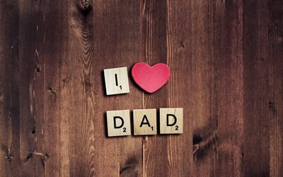 I Love Dad, heart, creative, Fathers Day