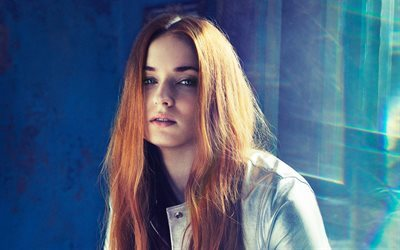 Sophie Turner, British actress, portrait, beautiful girl