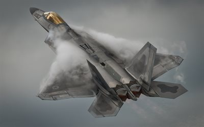 Lockheed Martin F-22A Raptor, F-22, American fighter, USAF, military aircraft, USA