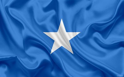 Somali flag, national flag, Somalia, Africa, flag of Somalia