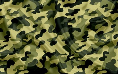 summer camouflage, green camouflage, silk fabric, camouflage, texture