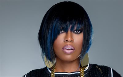 Missy Elliott, 4k, American singer, portrait, make-up, American woman rapper