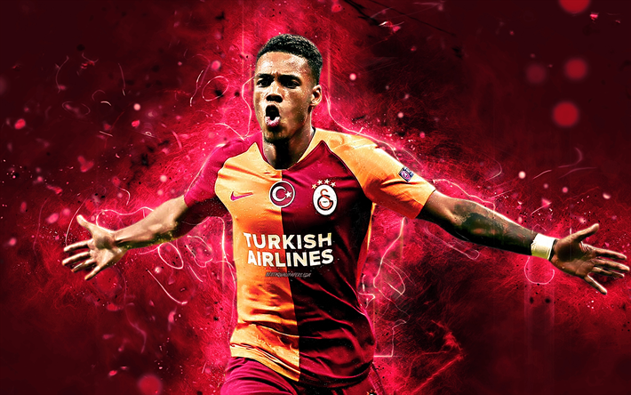 Garry Rodrigues, Cape Verdean footballers, Galatasaray FC, soccer, Turkish Super Lig, Rodrigues, footaball, neon lights