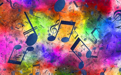music texture, grunge music background, music concepts, background with notes, musical notes