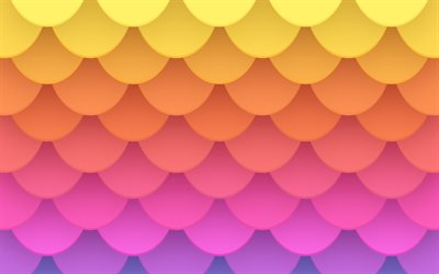 colorful abstract scales, creative, 3D scales, colorful backgrounds, abstract scales, rainbow backgrounds, scales textures