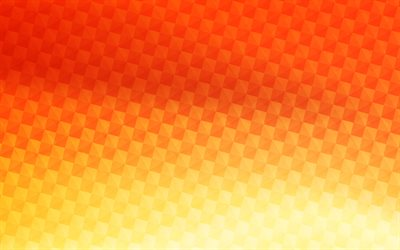 4k, orange carbon background, squares patterns, carbon patterns, wickerwork textures, carbon wickerwork texture, lines, carbon backgrounds, orange backgrounds, carbon textures
