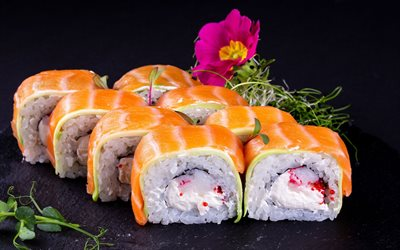 sushi, Japanese cuisine, rolls, california rolls, Japanese dishes