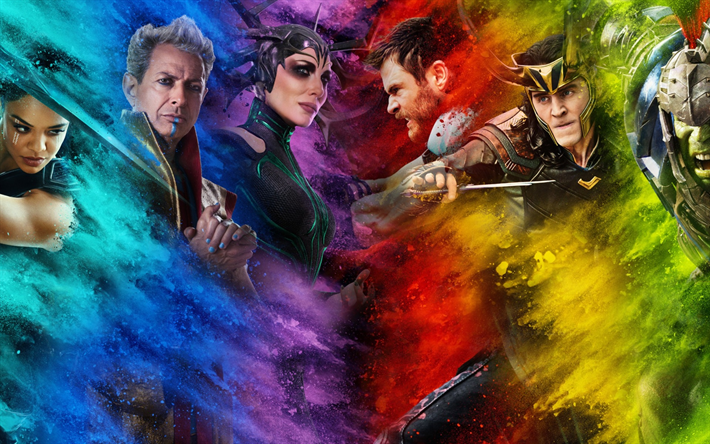 Download Wallpapers Thor Ragnarok 2017 Chris Hemsworth Thor 3 Cate Blanchett Mark Ruffalo Tessa Thompson Tom Hiddleston For Desktop Free Pictures For Desktop Free