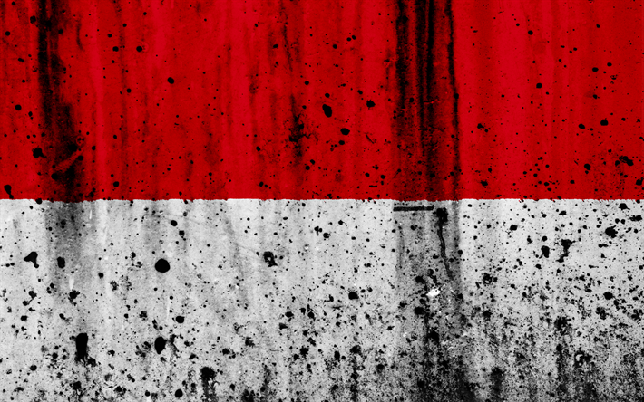 Download Wallpapers Indonesian Flag 4k Grunge Flag Of Indonesia