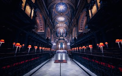 St Pauls Cathedral, London, Anglican Cathedral, Renaissance Architecture, English Baroque, interior, England, United Kingdom