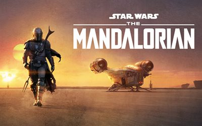The Mandalorian, 2019, 4k, promotional materials, poster, American television series