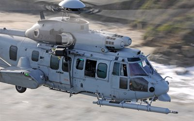 Airbus Helicopters H225M Caracal, Eurocopter EC725, military transport helicopter, French Air Force, France