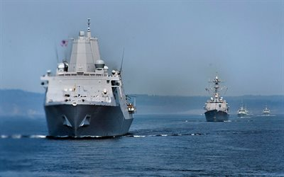 USS Green Bay, LPD-20, amphibious transport dock, United States Navy, US army, battleship, US Navy, San Antonio-class