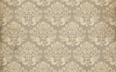 retro ornament texture, vintage paper texture, retro backgrounds, floral ornament texture