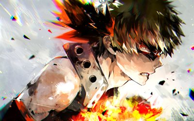 Bakugou Katsuki, abstract art, Boku no Hero Academia, manga, Katsuki Bakugo, My Hero Academia, warrior, Katsuki Bakugou