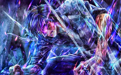 Ignis Scientia, battle, Final Fantasy XV, abstract art, Final Fantasy, protagonist, Ignis Stupeo Scientia