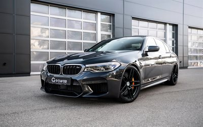 BMW M5, F90, black sedan, M5 G-Power, tuning M5, German sports cars, BMW