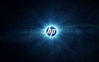 HP, 4k, logo, crerative, Hewlett Packard