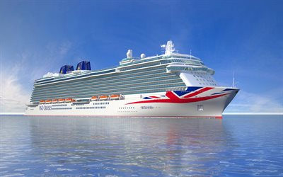 Britannia, luxury cruise liner, white ship, PO Cruises