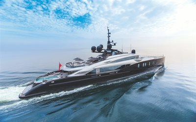 Okto Isa, 4k, luxury yacht, sea, ISA yachts
