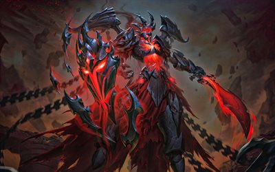 Ares, monster with sword, Smite characters, manga, MOBA, Smite, monster in darkness
