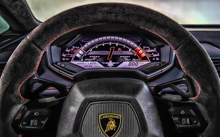Download Wallpapers 4k Lamborghini Huracan Interior 2019 Cars