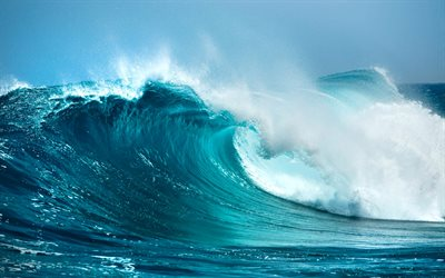 big wave, ocean, save water, water energy, waves