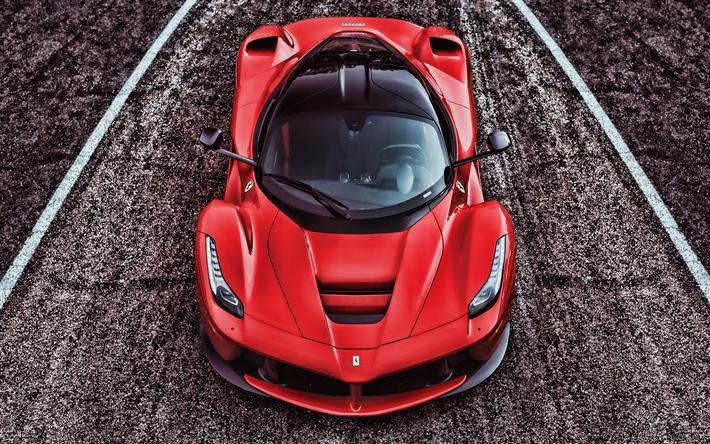 Download Wallpapers 4k Ferrari Laferrari View From Top 2018 Cars Hdr F150 Supercars Red Laferrari Ferrari For Desktop Free Pictures For Desktop Free