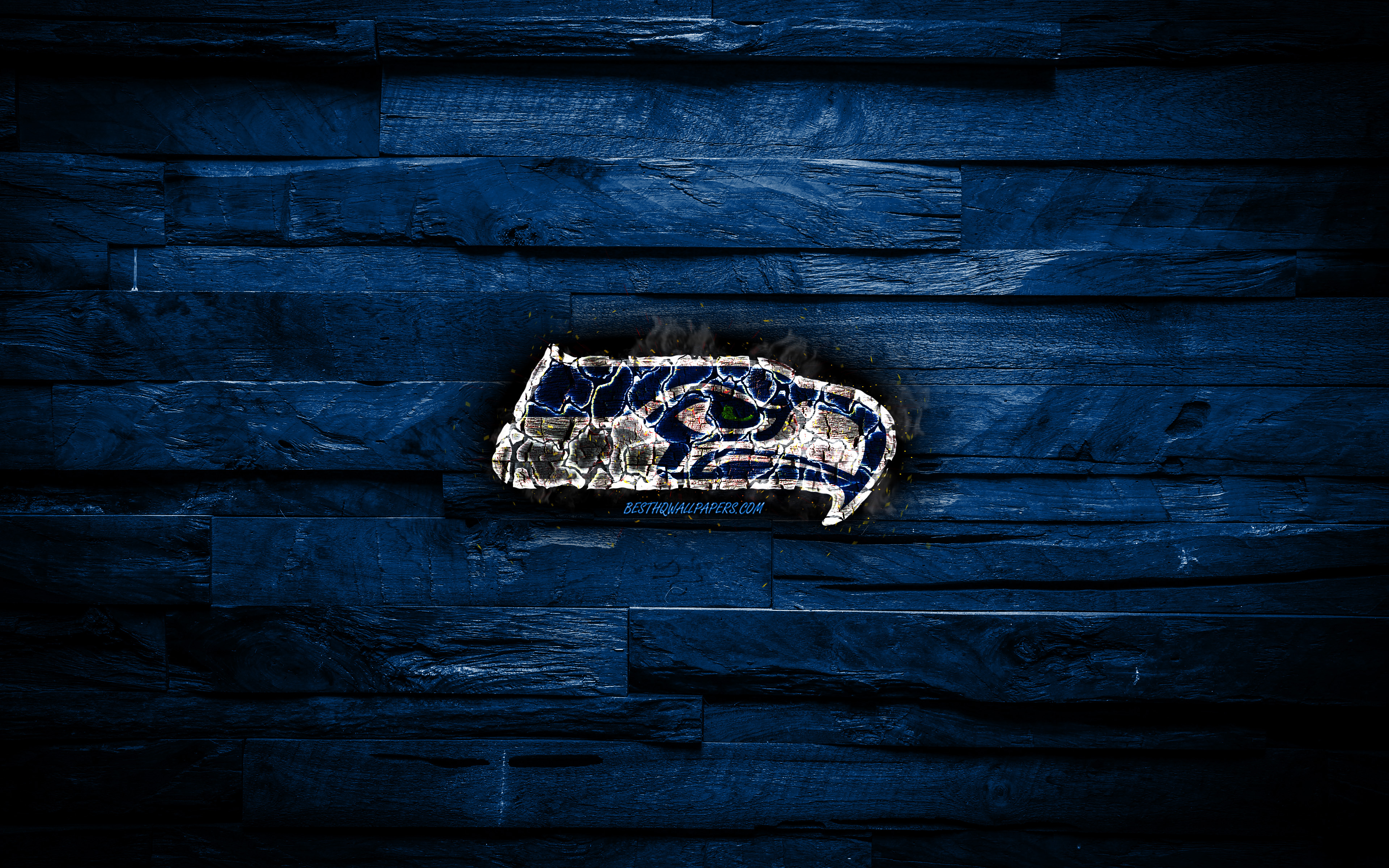 Download Wallpapers Seattle Seahawks 4k Scorched Logo Nfl Blue Wooden Background American Baseball Team National Football Conference Grunge Baseball Seattle Seahawks Logo Fire Texture Usa Nfc For Desktop With Resolution 3840x2400 High