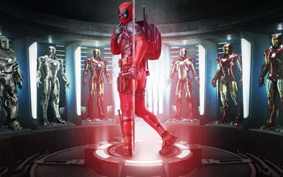 Deadpool, Iron man, Superheroes, costumes