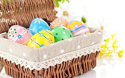 Easter, spring, Easter eggs, colored eggs